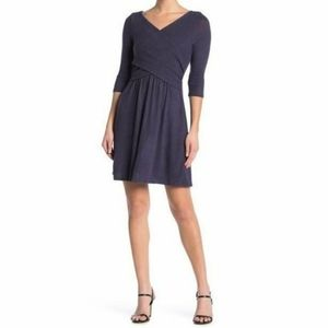 Nordstrom The Vanity Room Ribbed Surplice Dress